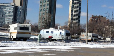 At location site Lakeshore Drive & Belmont