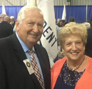 Region 5's own Barry & Karen Bell, newly installed International 2nd Vice President & First Lady